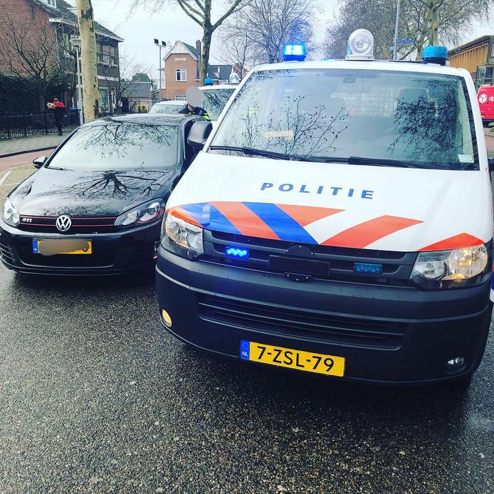 De door de politie onderschepte Volkswagen Golf die gestolen bleek.