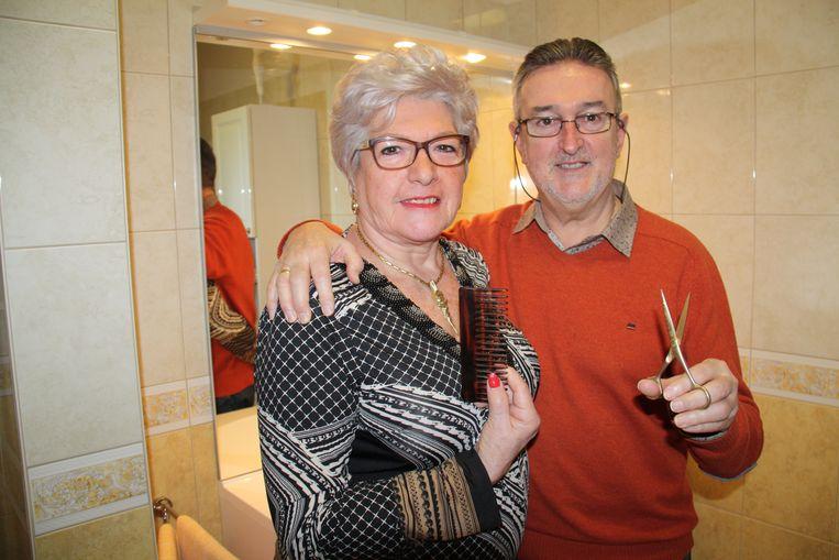Christine Vanloo en Edwin Eloy van kapperszaak Duo in De Panne