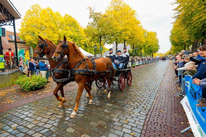 De paarden en aanspanningen zorgden weer voor spektakel in Eersel.