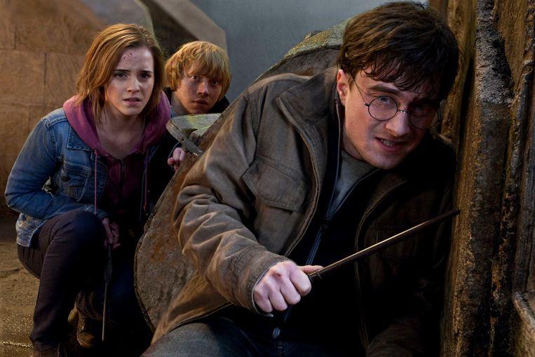 Emma Watson, Rupert Grint en Daniel Radcliffe in Harry Potter. Beeld AP