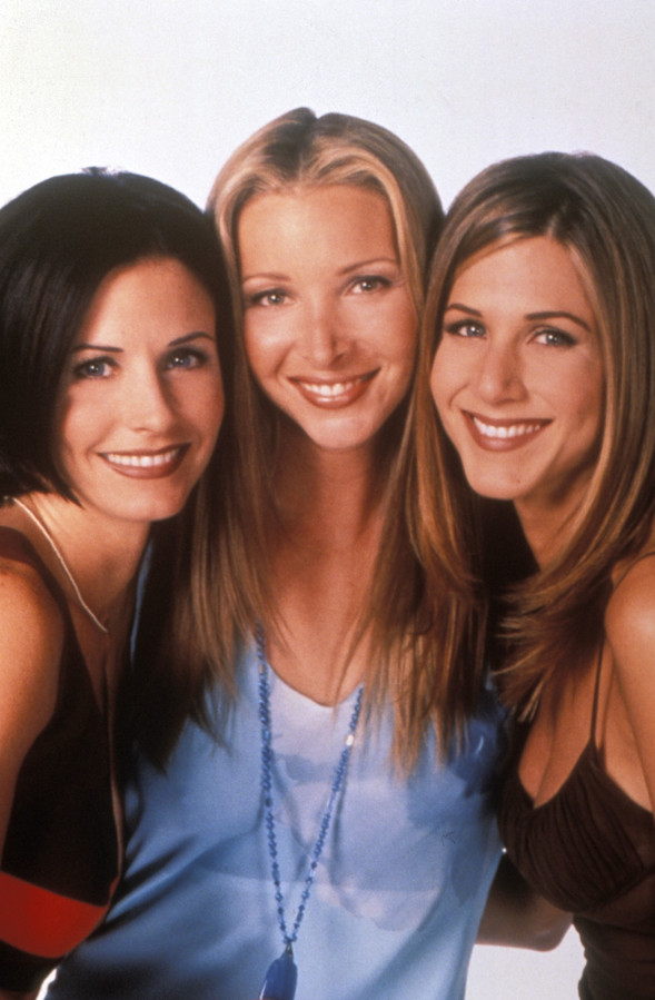 Courteney Cox, Lisa Kudrow et Jennifer Aniston.