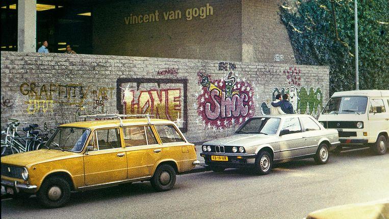 De muur van het Van Gogh museum in 1984 Beeld Delta