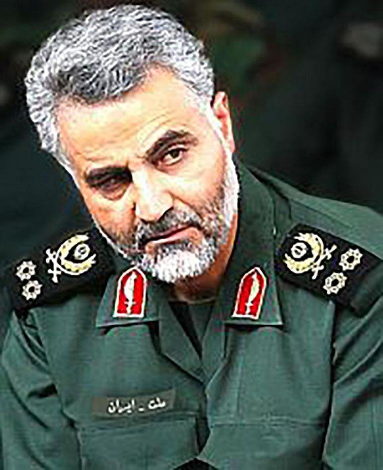 Generaal Qasem Soleimani. Beeld null