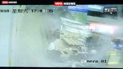 Plafond in China valt op toeristen: 9 gewonden