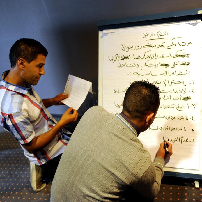 De voorbereidingen voor de opvang van vluchtelingen in Metsj Point Roosendaal zijn in volle gang. Edmund Messerschmidt/het fotoburo