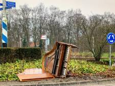 Mysterie op rotonde in Nunspeet: van wie is deze piano?
