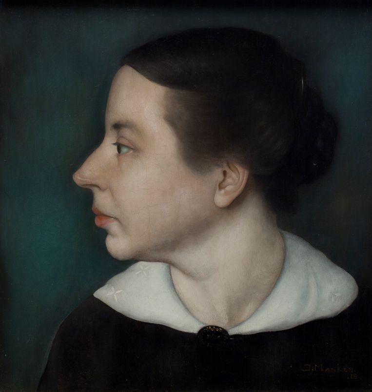 'Portret van Annie', 1918, 34 x 32,5 cm. Beeld RV