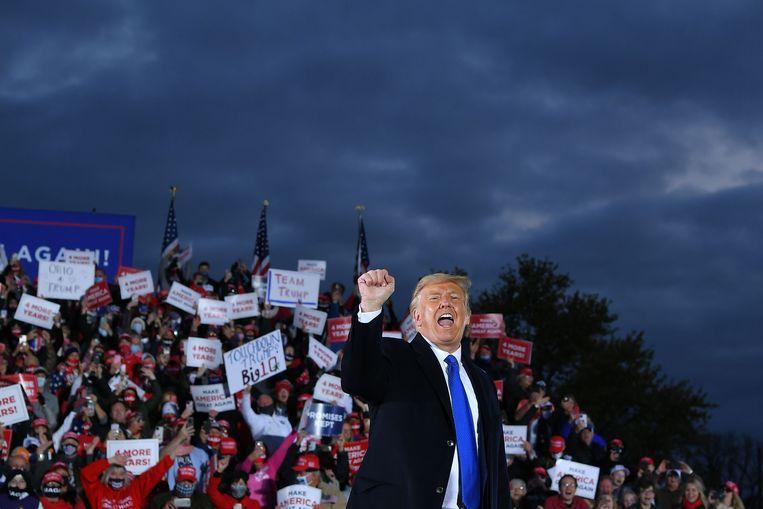 President Donald Trump op campagne in Ohio, 24 oktober. Beeld AFP