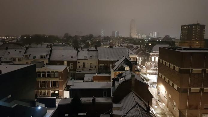 Uitzicht op de binnentuin van het Pieter Vreedeplein in Tilburg.