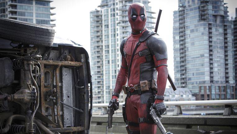 Ryan Reyonlds in de film Deadpool. Beeld null