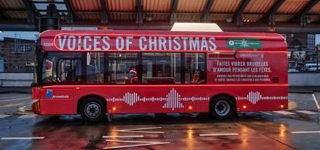 Le bus chantant de la STIB véhiculera vos voeux de Noël