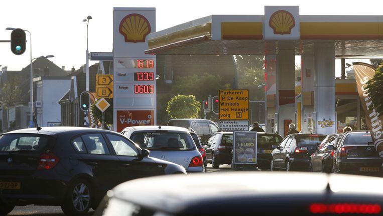 Eerdere protestactie bij een benzinepomp. Beeld ANP