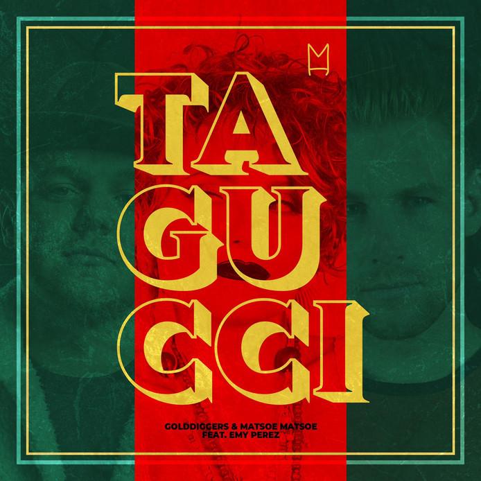 De artwork van Ta Gucci, een nummer van Matsoe Matsoe, Golddiggers en Emy Perez, dat uitgebracht wordt door Monthly Hits Recors, van Meester Jesper Hesseling.