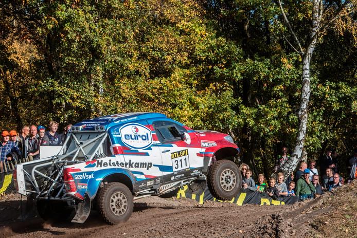 De Toyota waarmee Erik van Loon naar de Dakar Rally gaat.