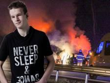 Heldenpenning voor Osse trucker Danny (19) die man uit brandende auto redde