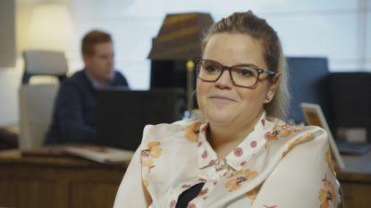 Celien Deloof, dochter van Margriet Hermans, deze week te zien in 'Huizenjagers'