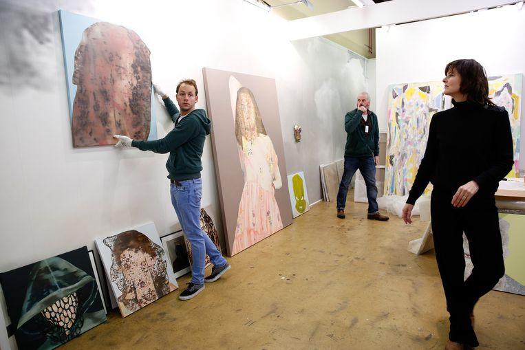 Opbouw van de kunstbeurs Art Rotterdam Beeld anp
