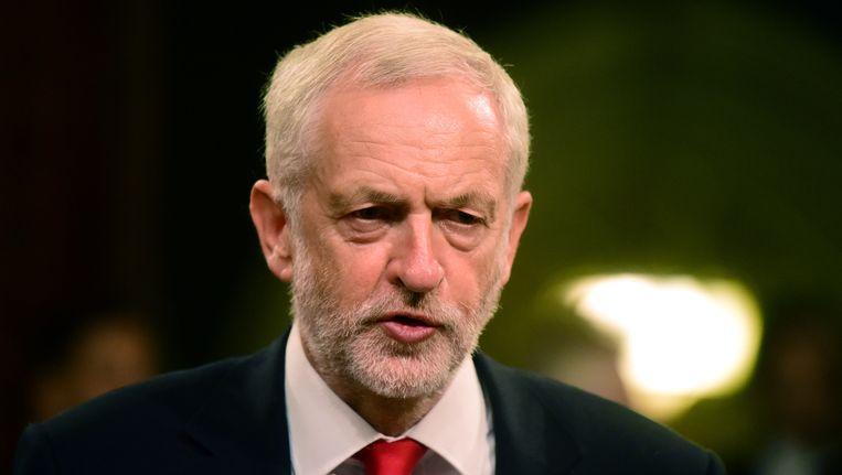 De Britse Labourleider Jeremy Corbyn.