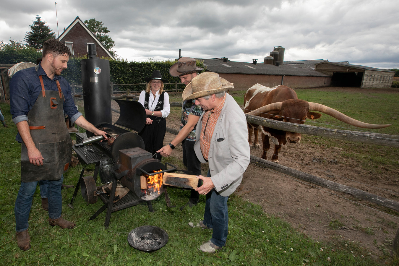 Someren BBq op Texas Longhorn Ranch