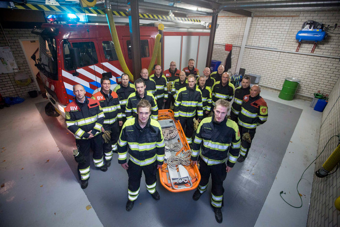 Archieffoto van de Dodewaardse brandweer.