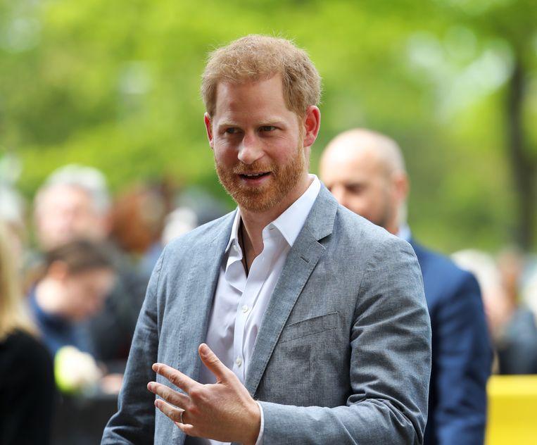 Prins Harry arriveert in Amsterdam. Beeld ANP