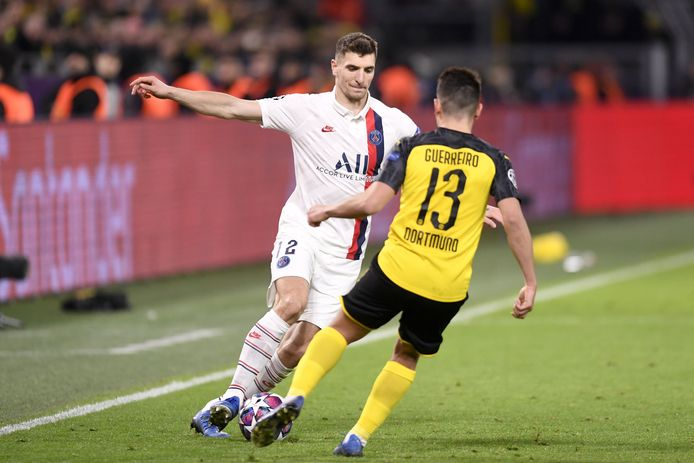 Meunier, qui ne jouera donc pas les quarts, avait participé à l'élimination de Dortmund en Ligue des Champions, début mars.