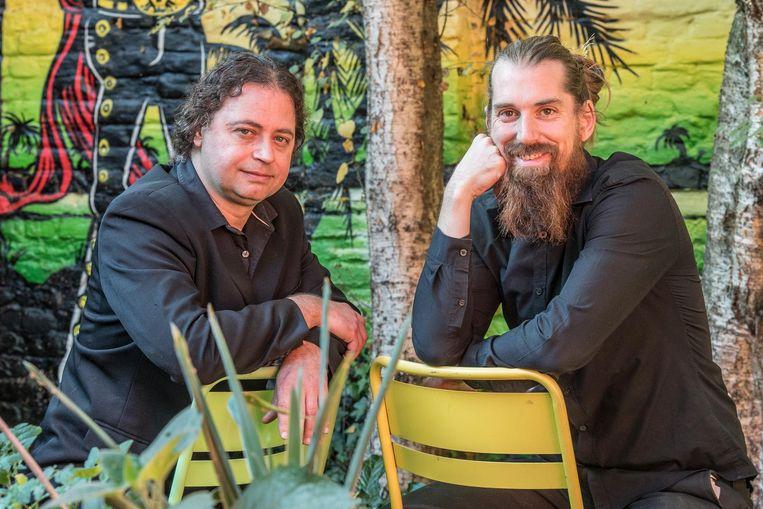 Karlheinz Chambaere (KHProductions) met Laban Carlier, de zoon van Johny Turbo.
