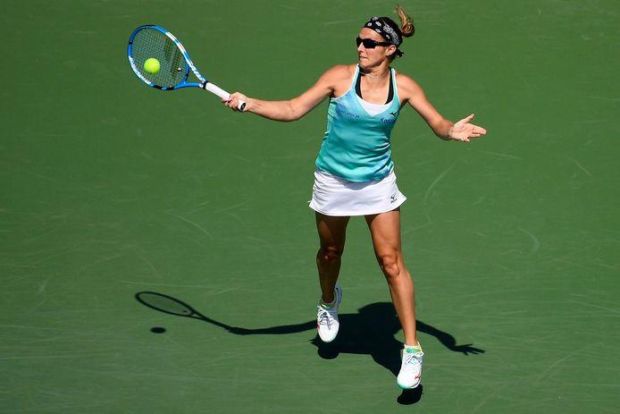 Déjà présente à Indian Wells, Kirsten Flipkens a appris l'annulation du tournoi sur Twitter.