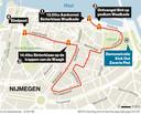 De route van de intocht van Sinterklaas in Nijmegen.