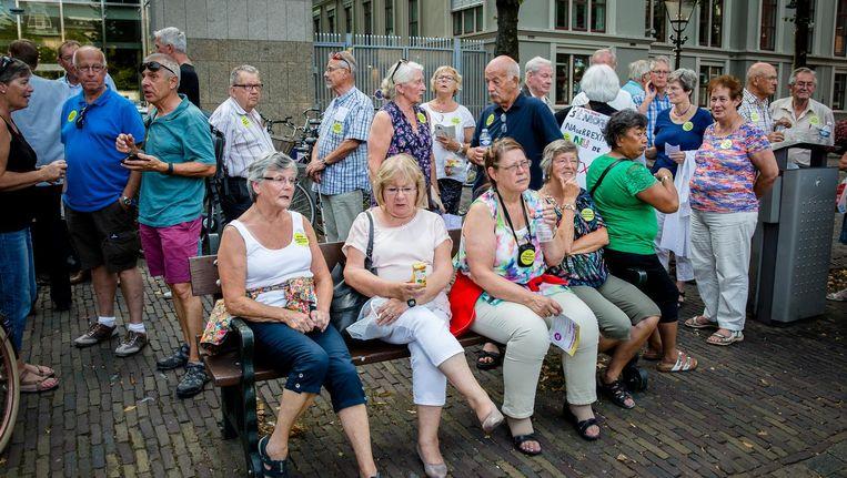 Een protest tegen pensioenafbraak, sept. 2016 Beeld anp