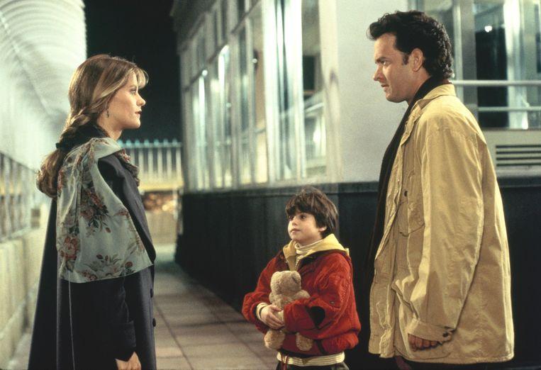 Vanaf links: Meg Ryan, Ross Malinger en Tom Hanks in Sleepless in Seattle. Beeld