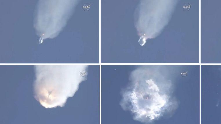 Videobeelden van de ontploffende raket in juni Beeld AFP