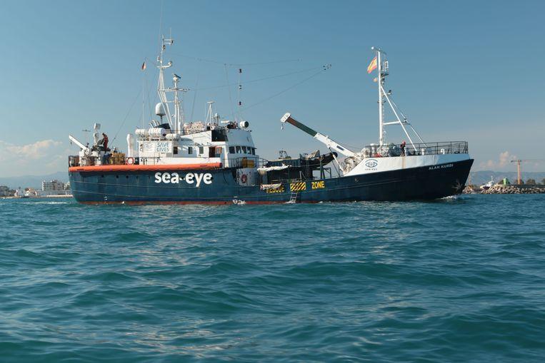 Het reddingsschip Alan Kurdi. Beeld AFP