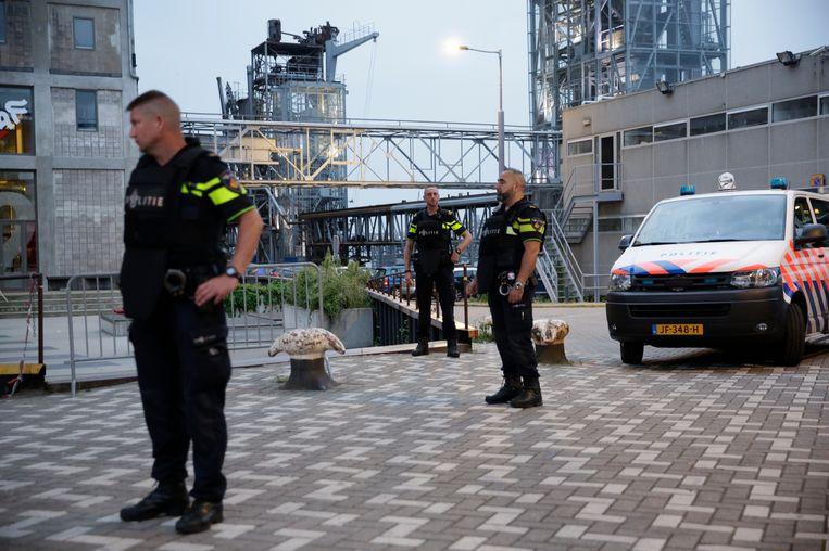 Politie bij de Maassilo in Rotterdam Beeld anp