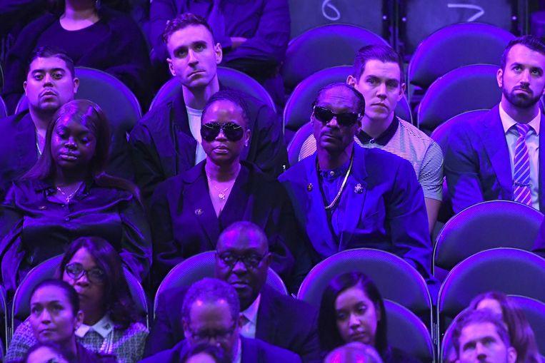 Ook Snoop Dogg zat in het publiek.