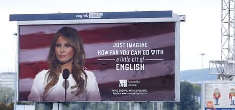 Melania Trump baalt van Kroatisch billboard