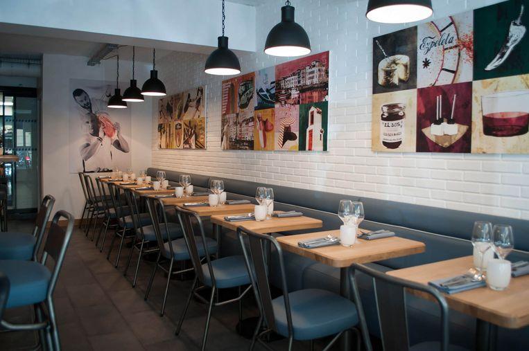 Restaurant Pottoka in Parijs. Beeld
