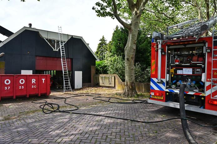Brand in woning in Langeweg