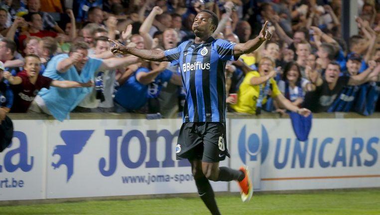 Boli Bolingoli met de winning goal tegen Oostende