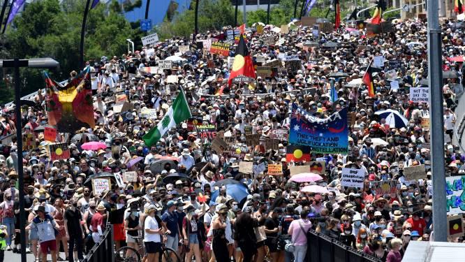 Duizenden betogers op straat tijdens nationale feestdag in Australië