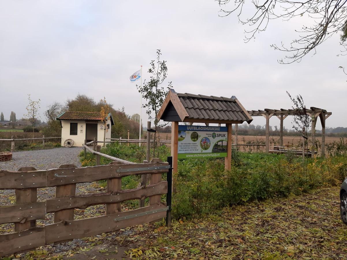 Rustplek het 'Uut Blaos Huukske' aan de Oude Kleefsepostweg in Spijk