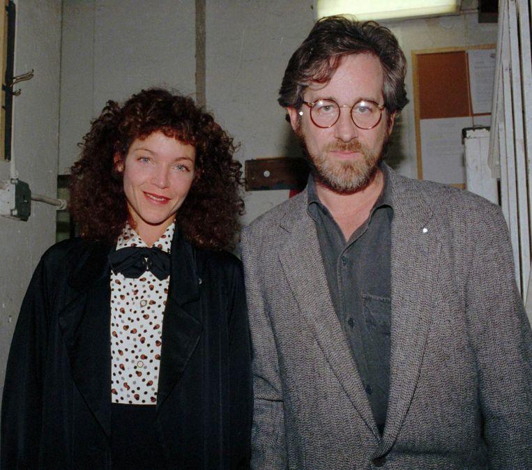 Steven Spielberg en Amy Irving in 1988.