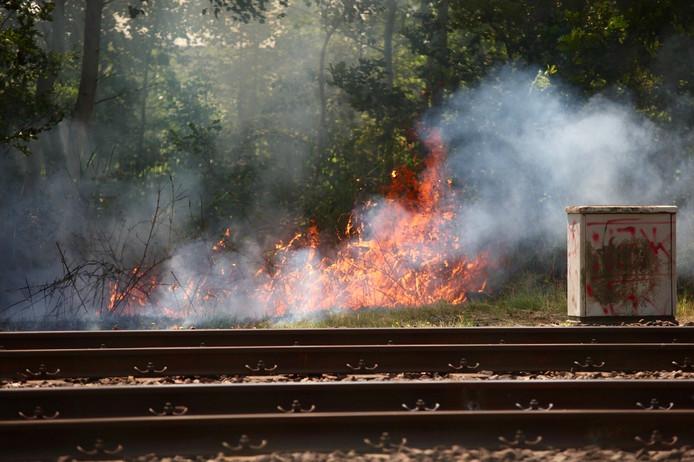 De droogte leidt tot extra alertheid bij ProRail op bermbranden langs het spoor.