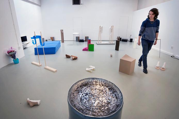 Tentoonstelling van ArtEZ-afdeling Fine Arts aan de Oude Kraan in Arnhem.
