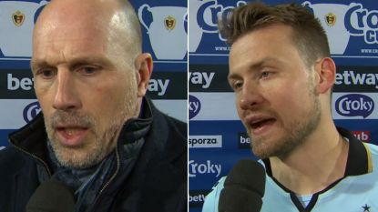 """Clement: """"Was tijdens rust heel kwaad"""", penaltyheld Mignolet: """"We willen de Croky Cup absoluut winnen"""""""