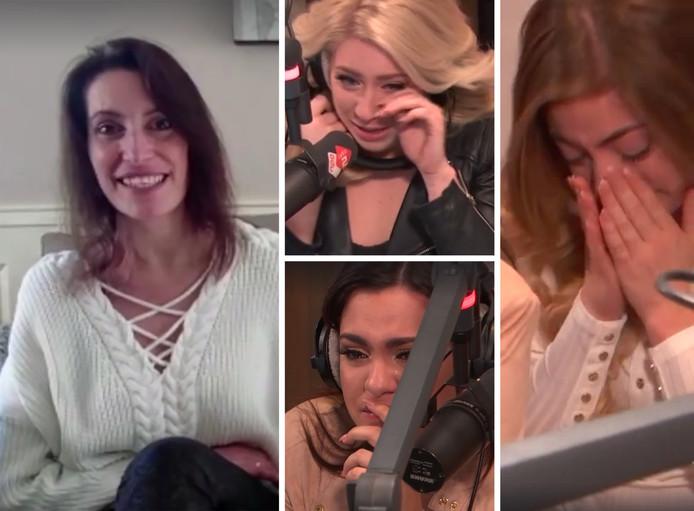 De zussen reageerden vol emoties op de videoboodschap van hun moeder.