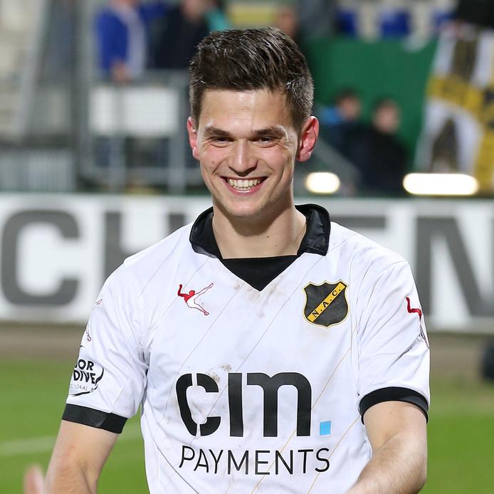 Meijers in maart 2017 als speler van NAC.
