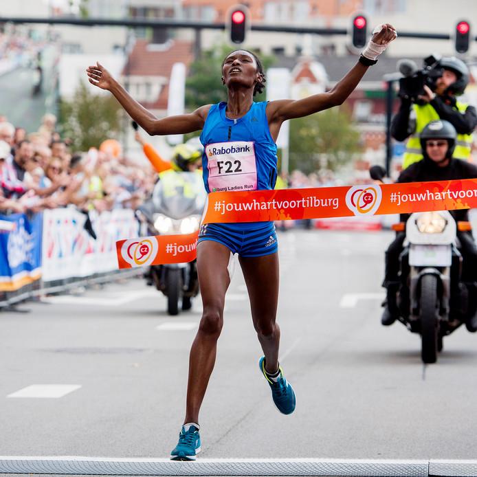 Winnares van de Ladies Run was Senbere Teferi.