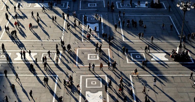 Stad: Milaan. 'De enige stad in Italië waar je het gevoel hebt deel te nemen aan het moderne leven.' Beeld getty