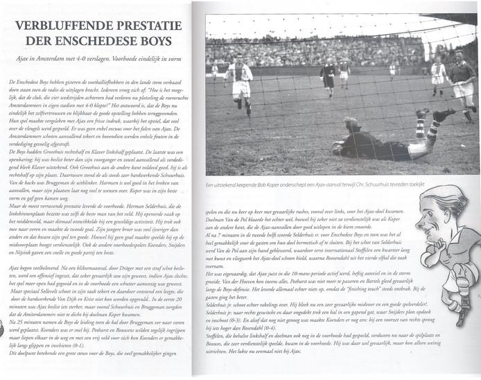 Ajax - Enschedese Boys 1950/1951 uitslag 0-4